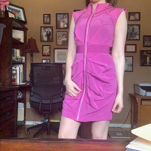 Bebe Pink Zip-up dress